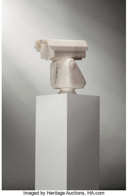 Ai Weiwei (b. 1957) Surveillance Camera, 2010 Marble 14 x 15-1/2 x 7-1/2 inches (35.6 x 39.4 x 19.1 cm) This work is...