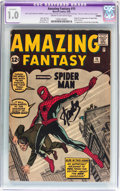 Silver Age (1956-1969):Superhero, Amazing Fantasy #15 (Marvel, 1962) CGC Apparent FR 1.0 Cream tooff-white pages....