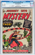 Silver Age (1956-1969):Superhero, Journey Into Mystery #83 (Marvel, 1962) CGC VG- 3.5 Off-white to white pages....
