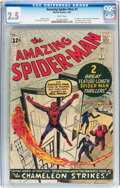 Silver Age (1956-1969):Superhero, The Amazing Spider-Man #1 (Marvel, 1963) CGC GD+ 2.5 Whitepages....