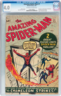 Silver Age (1956-1969):Superhero, The Amazing Spider-Man #1 (Marvel, 1963) CGC VG 4.0 Off-white towhite pages....