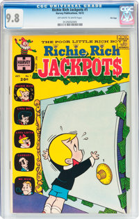 Richie Rich Jackpots #1 File Copy (Harvey, 1972) CGC NM/MT 9.8 Off-white to white pages