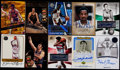 Basketball Cards:Lots, Basketball Greats Signed Card Collection (10)....
