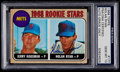 Autographs:Sports Cards, Signed 1968 Topps Nolan Ryan - Mets Rookies PSA/DNA Certified GemMint 10....