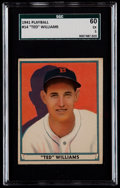 Baseball Cards:Singles (1940-1949), 1941 Play Ball Ted Williams #14 SGC 60 EX 5....