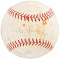 Autographs:Baseballs, 1951 Cleveland Indians Team Signed Baseball. ...