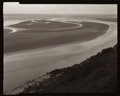 Photographs:20th Century, William Clift (American, b. 1944). Sands, Tombelaine, MountSaint Michel, France, 1997. Gelatin silver contact print. 3-...