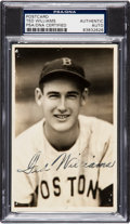 Baseball Collectibles:Photos, Circa 1940 Ted Williams Signed Real Photograph Postcard by GeorgeBurke....