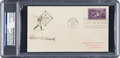 Baseball Collectibles:Others, 1939 Connie Mack Signed Baseball Centennial First Day Cover....
