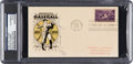Baseball Collectibles:Others, 1939 Honus Wagner Signed Baseball Centennial First Day Cover. ...