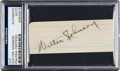 Baseball Collectibles:Others, Circa 1930 Walter Johnson Signed Cut Signature....