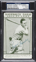 Autographs:Sports Cards, 1948 Rogers Hornsby Signed Exhibit Card. ...