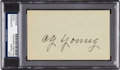 Baseball Collectibles:Others, 1940's Cy Young Signed Parchment. ...