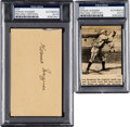 Baseball Collectibles:Others, 1940's Honus Wagner Signed Paper & Newspaper Clipping. ...
