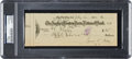 Baseball Collectibles:Others, 1932 Ty Cobb Double-Signed Check....