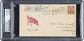 Baseball Collectibles:Others, 1933 Eddie Collins Signed First Day Cover....