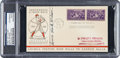 Baseball Collectibles:Others, 1939 Hack Wilson Signed Grand Opening of Hall of Fame First Day Cover....