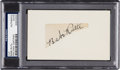 Baseball Collectibles:Others, 1940's Babe Ruth Signed Cut Signature. ...