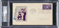 Baseball Collectibles:Others, 1939 Al Simmons Signed Baseball Centennial First Day Cover. ...