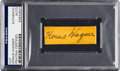 Baseball Collectibles:Others, 1940's Honus Wagner Signed Cut. ...