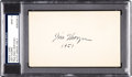 Football Collectibles:Others, 1951 Jim Thorpe Signed Index Card, PSA Mint 9....