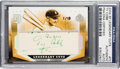 Autographs:Sports Cards, 2004 Upper Deck SP Legendary Cuts Ty Cobb #TC Cut Autograph Card Numbered 1 of 18 PSA/DNA Authentic. ...