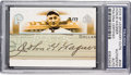 Autographs:Sports Cards, 2004 Upper Deck SP Legendary Cuts Honus Wagner #HW Cut Autograph Card Numbered 3 of 17 PSA/DNA Authentic. ...