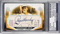 Autographs:Sports Cards, 2004 Upper Deck SP Legendary Cuts Rogers Hornsby #RH Cut Autograph Card Numbered 4 of 5 PSA/DNA Authentic. ...