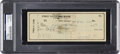 Baseball Collectibles:Others, 1951 Ty Cobb Signed Check....