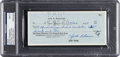 Baseball Collectibles:Others, 1960 Jackie Robinson Signed Check....
