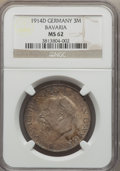 German States:Bavaria, German States: Bavaria. Ludwig III 3 Mark 1914-D MS62 NGC,...