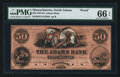 Obsoletes By State:Massachusetts, North Adams, MA- Adams Bank $50 Proof. ...