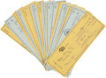 Baseball Collectibles:Others, 1978-80 Waite Hoyt Signed Checks Lot of 54. ...