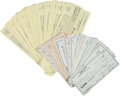 Baseball Collectibles:Others, 1988-98 Jim Palmer Signed Checks Lot of 118. ...