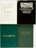 Books:Literature 1900-up, [Walt Whitman]. Group of Four Books Relating to Whitman's Leaves of Grass. Various publishers, 1928 - 1976. . ... (Total: 4 Items)