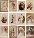 Photography:Cabinet Photos, New York/Broadway Actors & Actresses: Fifty Late 19th-EarlyTwentieth Century Cabinet Photos, Mostly Identified....