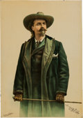 "Advertising:Signs, William F. ""Buffalo Bill"" Cody: Colorful Tin Advertising Sign...."