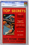 """Golden Age (1938-1955):Crime, Top Secrets #2 Davis Crippen (""""D"""" Copy) pedigree (Street & Smith, 1948) CGC VF- 7.5 Off-white to white pages...."""