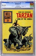 Silver Age (1956-1969):Adventure, Dell Giants #51 Tarzan King of the Jungle (Dell, 1961) CGC VF 8.0 Off-white pages....