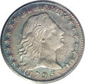 Early Half Dimes: , 1795 H10C AU53 PCGS. V-5, LM-8, R.3. A die crack from the right armof the Y in LIBERTY extends to the bridge of Liberty's ...