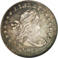 Early Half Dimes: , 1803 H10C Large 8 AU55 NGC. V-2, LM-3, R.3. A splendidly detailedpiece with medium plum-gray and sea-green obverse toning ...