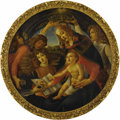 Fine Art - Painting, European, Madonna of the Magnificat (Madonna del Magnificat). . After Sandro Botticelli, Italian (1445-1510). Oil on canvas, g...