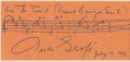 """Autographs:Celebrities, Conductor and Composer Ferdinand Rudolph von Grose Autograph,""""Ferde Grose"""", on 5.5"""" x 2.5"""" sheet, dated July 19, 1948a... (Total: 1 Item)"""
