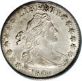 Early Dimes: , 1807 10C AU58 PCGS. JR-1, R.2, the only dies. Blushes of light tantoning enrich this partly lustrous pearl-gray representa...