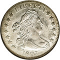 Early Dimes: , 1807 10C MS62 NGC. JR-1, R.2. The only die marriage known for 1807,which was also the final year of the Draped Bust, Heral...