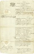 "Autographs:Statesmen, Patriot Benjamin Lincoln Partly-Printed Document Signed, ""B.Lincoln Collr"", countersigned by James Lovell, one page wit...(Total: 1 Item)"