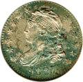 Bust Dimes: , 1827 10C MS67 NGC. JR-6, R.2. This piece is undoubtedly the finestcertified of the variety (attributed by star 6 being hig...