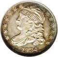 Bust Dimes: , 1834 10C Large 4 MS64 NGC. JR-5, R.1. NGC incorrectly attributesthe coin as being the JR-4 variety, when in fact it is JR-...