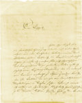 """Autographs:Authors, Johann Wolfgang von Goethe Autograph Letter Signed in German""""Goethe"""". One page, 7.5"""" x 9.5"""", np, September 27, 1816,in... (Total: 1 Item)"""