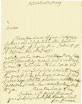 "Autographs:Non-American, Lord George Germaine Autograph Letter Signed, 1 page, 7.25"" x9.25"", Pall Mall, Oct. 15, 1779, to Lady Macartney, in respons..."